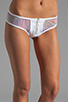 Image 4 of MINIMALE ANIMALE Pay Back Bikini in Blanco with Print with Blanco Mesh Overlay