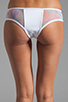 Image 5 of MINIMALE ANIMALE Pay Back Bikini in Blanco with Print with Blanco Mesh Overlay
