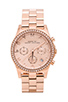 Image 1 of Marc by Marc Jacobs Henry Chrono Watch in Rose Gold