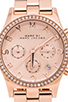 Image 2 of Marc by Marc Jacobs Henry Chrono Watch in Rose Gold