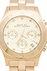 Image 2 of Marc by Marc Jacobs Blade Chrono Watch in Gold