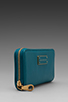 Image 3 of Marc by Marc Jacobs Too Hot to Handle Slim Zip Around Wallet in Deep Teal