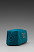 Image 3 of Marc by Marc Jacobs Pretty Nylon Narrow Cosmetic Bag in Deep Teal