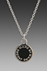 Image 2 of Marc by Marc Jacobs Enamel Disc Pendant in Black/Argento