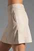 Image 5 of Marc by Marc Jacobs Jett Leather Skirt in Newsprint Beige