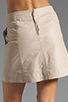 Image 6 of Marc by Marc Jacobs Jett Leather Skirt in Newsprint Beige