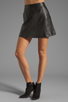 Image 1 of Marc by Marc Jacobs Jett Leather Skirt in Phantom