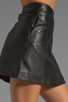 Image 5 of Marc by Marc Jacobs Jett Leather Skirt in Phantom