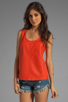 Image 1 of Marc by Marc Jacobs Jett Leather Top in Flamingo Red