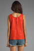 Image 2 of Marc by Marc Jacobs Jett Leather Top in Flamingo Red