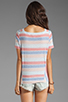 Image 2 of Marc by Marc Jacobs Sketch Stripe Top in Lipstick Red Multi
