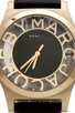 Image 2 of Marc by Marc Jacobs Henry Skeleton Watch in Black/Gold