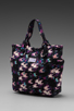 Image 1 of Marc by Marc Jacobs Pretty Nylon Printed Medium Tote in Black Multi