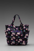 Image 2 of Marc by Marc Jacobs Pretty Nylon Printed Medium Tote in Black Multi