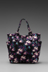 Image 4 of Marc by Marc Jacobs Pretty Nylon Printed Medium Tote in Black Multi