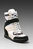 Image 1 of Marc by Marc Jacobs Sneaker Wedge in Black/Black/White/Oatmeal