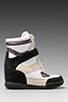 Image 2 of Marc by Marc Jacobs Sneaker Wedge in Black/Black/White/Oatmeal