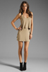 Image 2 of Mason by Mason by Michelle Mason Leather Strap Tank Dress in Camel