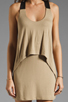 Image 5 of Mason by Mason by Michelle Mason Leather Strap Tank Dress in Camel