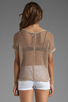 Image 2 of Michael Stars Beachcomber Cotton Mesh Short Sleeve Wide Neck Dolman Pullover in Khaki