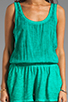 Image 5 of Michael Stars Slub Jerse/Voile Mix Sleeveless Scoop Neck Romper in Beetle
