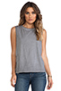 Image 1 of Michael Stars Sunfaded Jersey Dropped Armhole Tank in Oxide