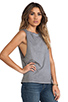 Image 2 of Michael Stars Sunfaded Jersey Dropped Armhole Tank in Oxide