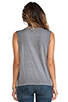 Image 3 of Michael Stars Sunfaded Jersey Dropped Armhole Tank in Oxide