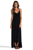 Image 1 of MIKOH Swimwear Biarritz Low Back Maxi Dress in Night