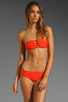 Image 1 of MIKOH Monaco Cut Out Bandeau in Coral