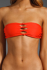 Image 2 of MIKOH Monaco Cut Out Bandeau in Coral