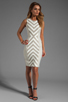 Image 2 of MILLY Fabulous Italian Stretch Stripes and Mini Stripes Tank Dress in Cork