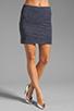Image 1 of MILLY Italian Wavestitch Stella Stretch Mini Skirt in Navy