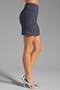Image 2 of MILLY Italian Wavestitch Stella Stretch Mini Skirt in Navy