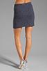 Image 3 of MILLY Italian Wavestitch Stella Stretch Mini Skirt in Navy
