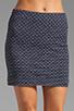 Image 4 of MILLY Italian Wavestitch Stella Stretch Mini Skirt in Navy