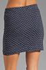 Image 6 of MILLY Italian Wavestitch Stella Stretch Mini Skirt in Navy