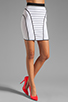 Image 1 of MILLY January Knits Camille Pencil Skirt in White/Black