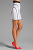 Image 2 of MILLY January Knits Camille Pencil Skirt in White/Black