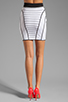 Image 3 of MILLY January Knits Camille Pencil Skirt in White/Black