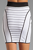 Image 6 of MILLY January Knits Camille Pencil Skirt in White/Black