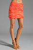 Image 1 of MILLY Zebra Jacquard Classic Mini Skirt in Persimmon