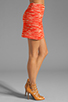 Image 2 of MILLY Zebra Jacquard Classic Mini Skirt in Persimmon