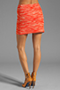 Image 3 of MILLY Zebra Jacquard Classic Mini Skirt in Persimmon