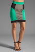 Image 1 of MILLY Honeycomb Mesh Panel Pencil Skirt in Mentino