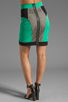 Image 3 of MILLY Honeycomb Mesh Panel Pencil Skirt in Mentino
