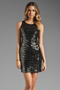 Image 1 of MM Couture by Miss Me Sleeveless Dress w/ Sequin Body in Black