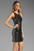 Image 3 of MM Couture by Miss Me Sleeveless Dress w/ Sequin Body in Black