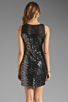 Image 4 of MM Couture by Miss Me Sleeveless Dress w/ Sequin Body in Black