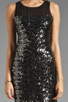 Image 5 of MM Couture by Miss Me Sleeveless Dress w/ Sequin Body in Black